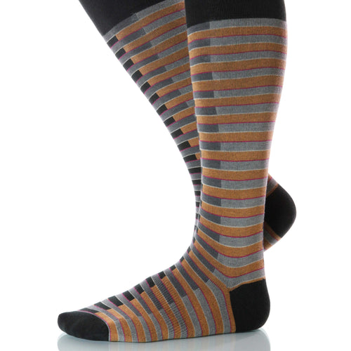 Masquerade Venetian Socks; Men's or Women's Supima Cotton Brown XOAB