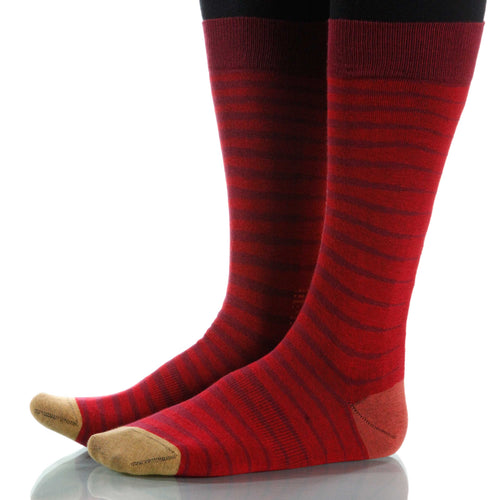 Scarlet Zebra Socks; Men's or Women's Supima Cotton - Red - XOAB