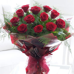 Valentines Roses - Hand-tied Bouquet