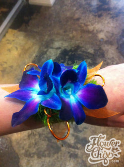 Purple-Blue Dendro Orchid Corsage