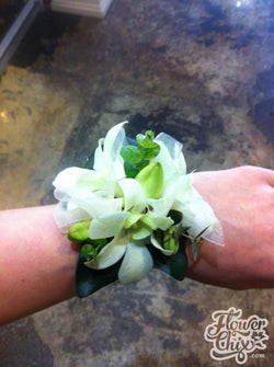 White Dendro Orchid Corsage