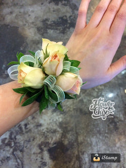 Ivory Spray Rose Corsage