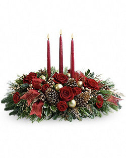 All is Bright Centerpiece by Teleflora