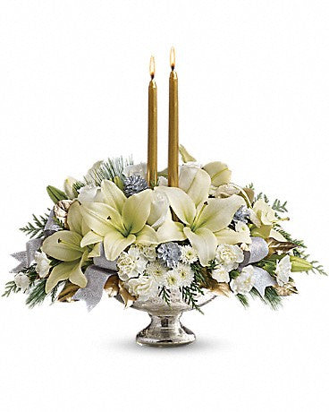 Silver And Gold Centerpiece by Teleflora