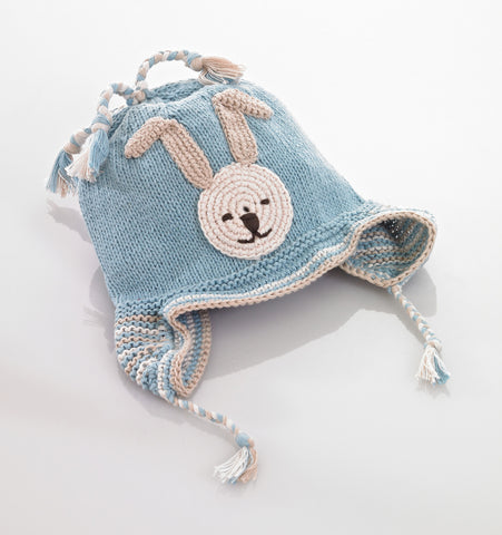 Pebble Hats – Motif Hat Bunny Blue