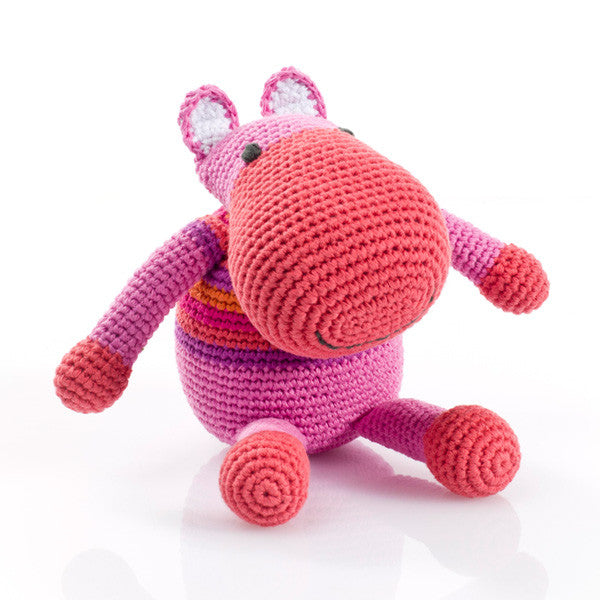 Pebble Rattle – Hippo Pink