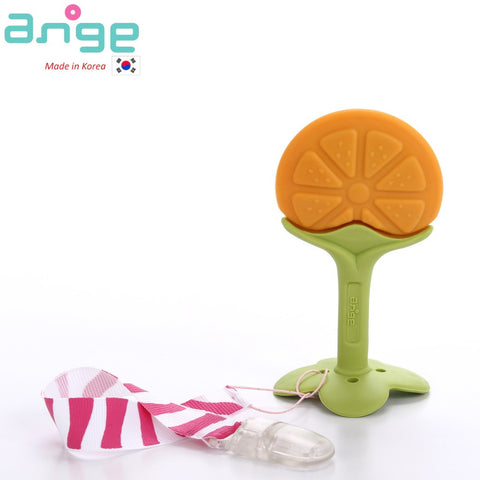 Fruit Teether with Clip (Orange)