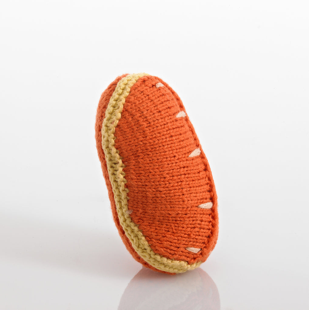 Pebble Food Rattle – Orange Slice