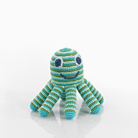 Pebble Rattle – Octopus Deep Green