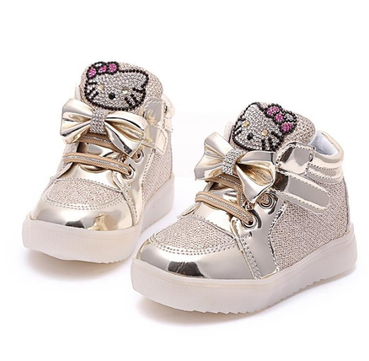 Girls Shoes Baby Fashion Hook Loop Led Shoes...