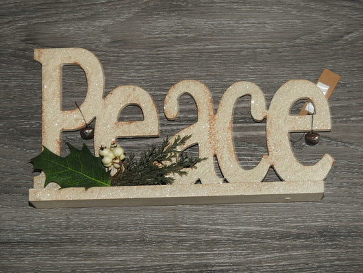 Ornament Peace decor Ivory Each