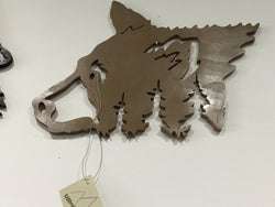 Bear Head Wood Wall Art