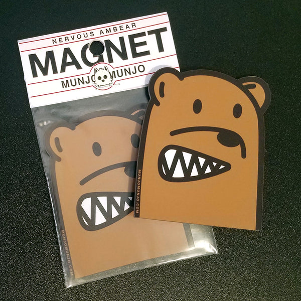 bear magnet cute anime ambear sticker munjo raleigh artist local handmade