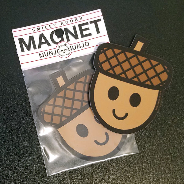 Smiley Acorn Magnet