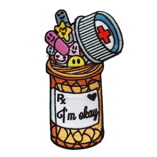 I'm Okay Pills Embroidered Patch