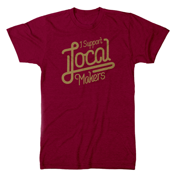Local Makers Tee - Maroon