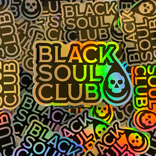 Black Soul Club Holographic Sticker