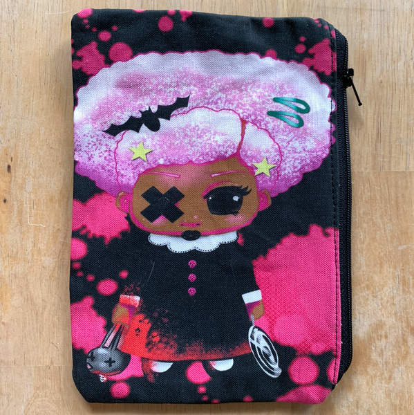 Afro Girl Zip Pouch