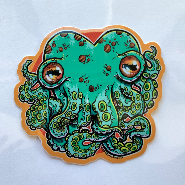 Cthulhu Love Octopus Sticker
