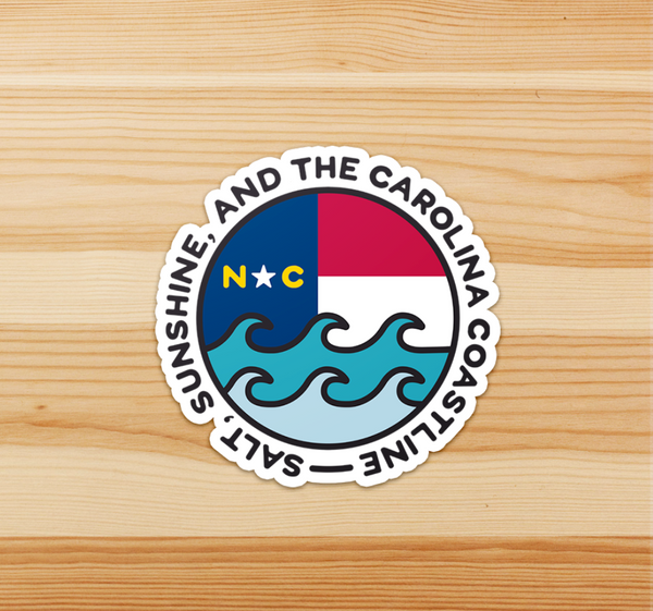 Carolina Coastline Sticker