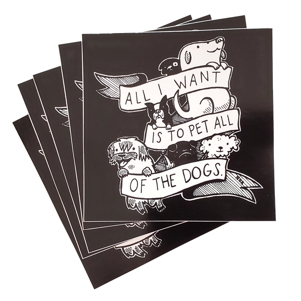 Pet All Of The Dogs Sticker