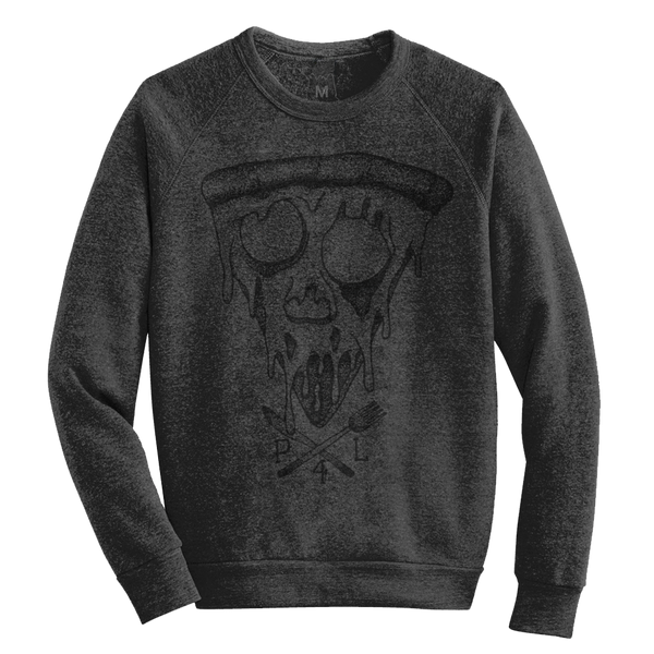 Blackout Pizza 4 Life crew neck pullover sweatshirt