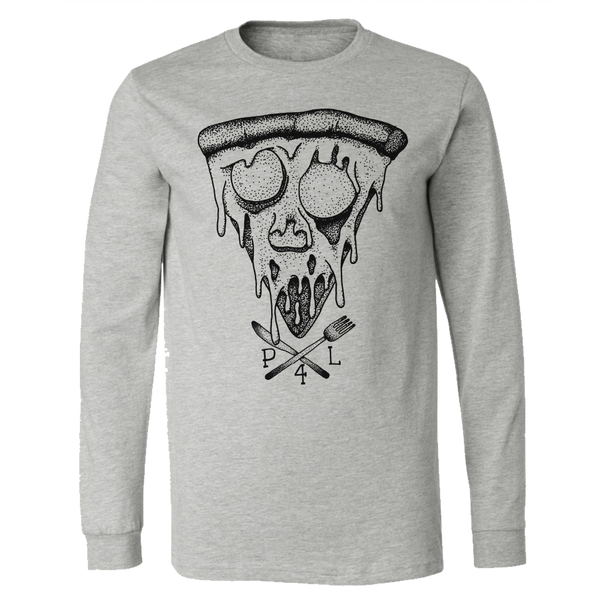 pizza for life, pizza skull, knife fork shirt, pizza shirt, pizza art, i love pizza, pizza gift, pizza face