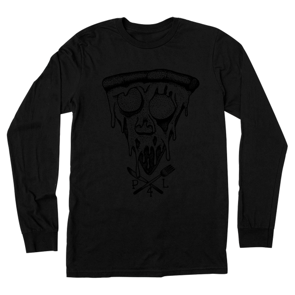 pizza for life, pizza skull, knife fork shirt, pizza shirt, pizza art, i love pizza, pizza gift, pizza black tee