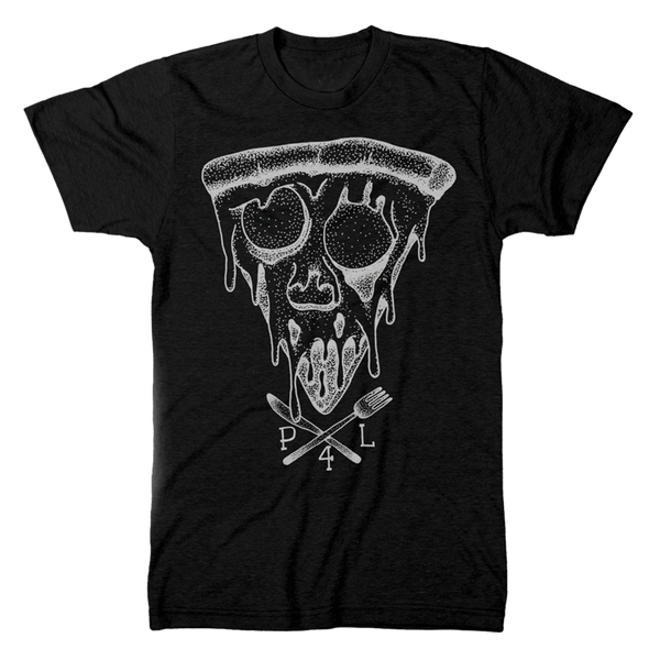 pizza for life, pizza skull, knife fork shirt, pizza shirt, pizza art, i love pizza, pizza gift