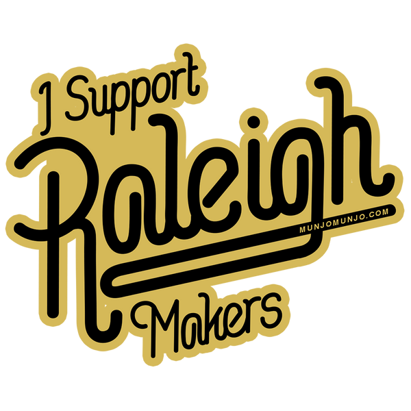 raleigh NC sticker makers artists local hand-lettering