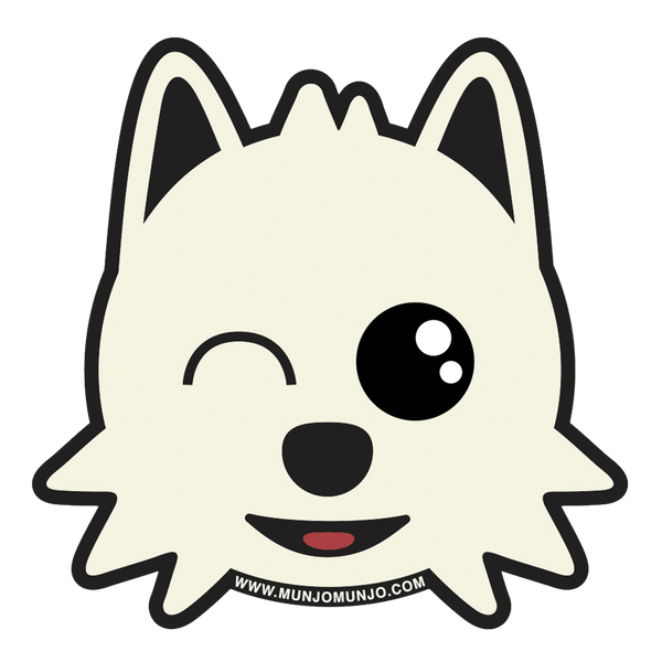 pomeranian face cute japanese anime pom love doggo sticker logo munjo
