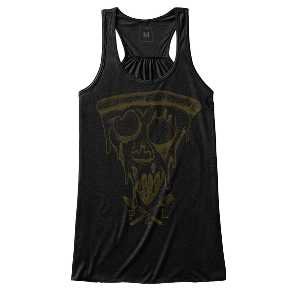 Pizza for life, pizza skull tank top