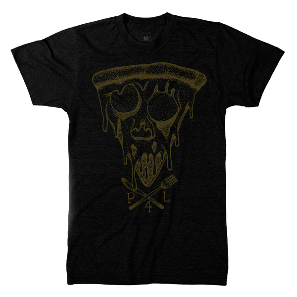 Pizza skull face pizza for life shirt