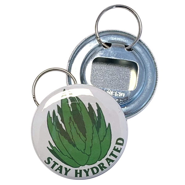 Stay Hydrated Bottle Opener Keychain