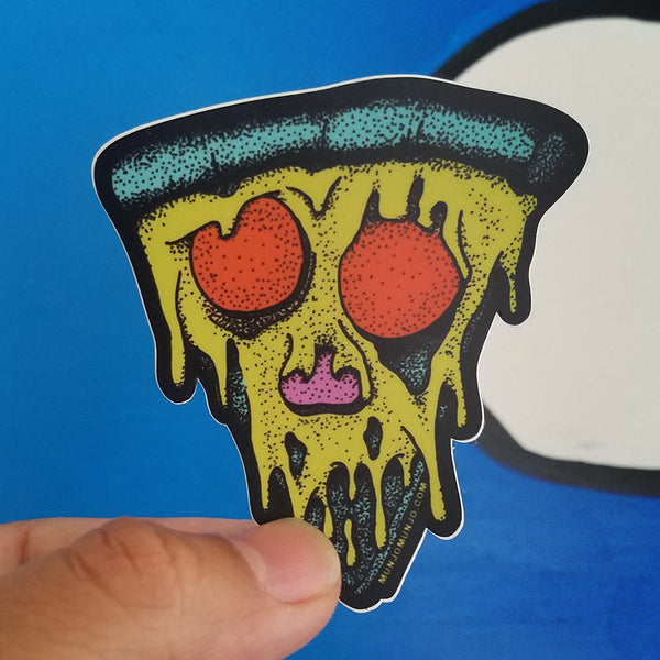Pizza-4-Life Sticker  (Neon)
