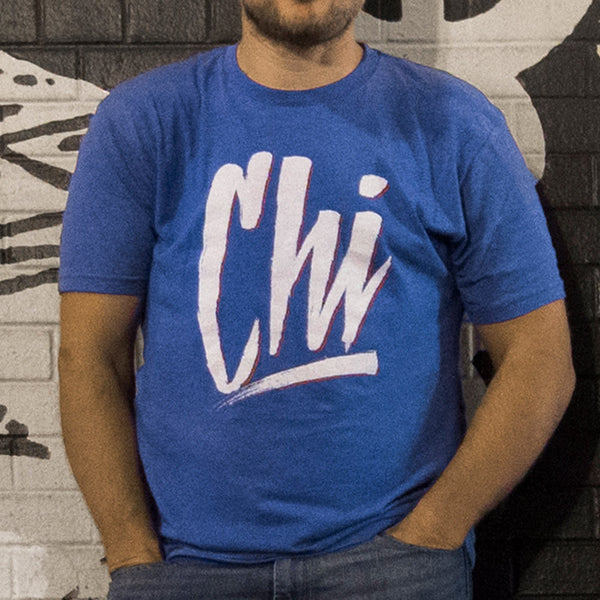 Chicago chi-town hand lettering tee second city graffiti cubs cubbies fans