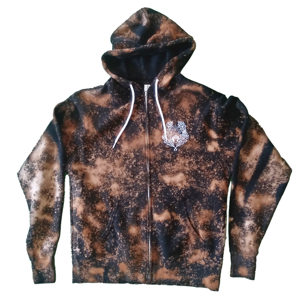 lOAKl Zip Up Hoodie (bleach-dyed)