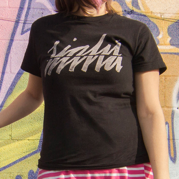 out of sight mind graffiti lettering street art style shirt raleigh