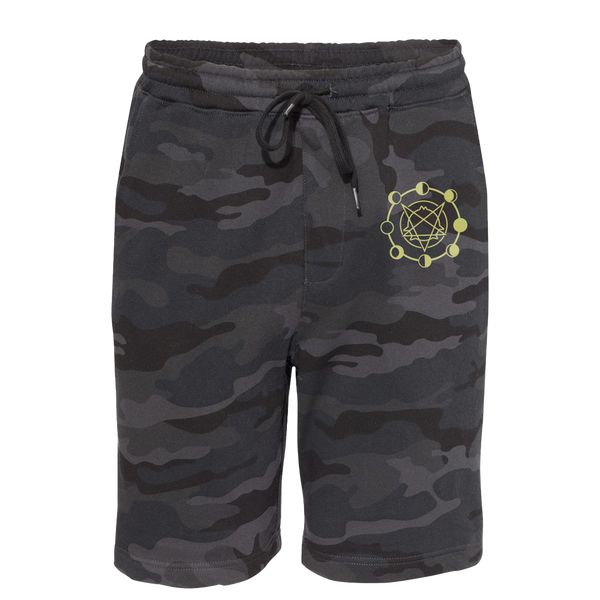 Phases of the Mun Black Camo Shorts