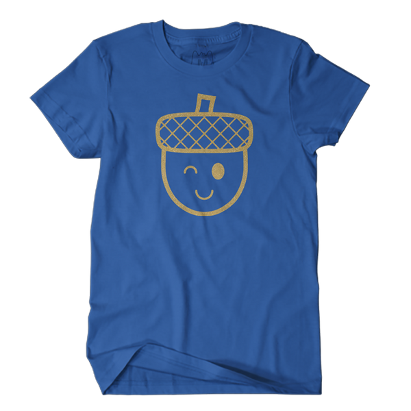 Winking Acorn Tee (Royal Blue)
