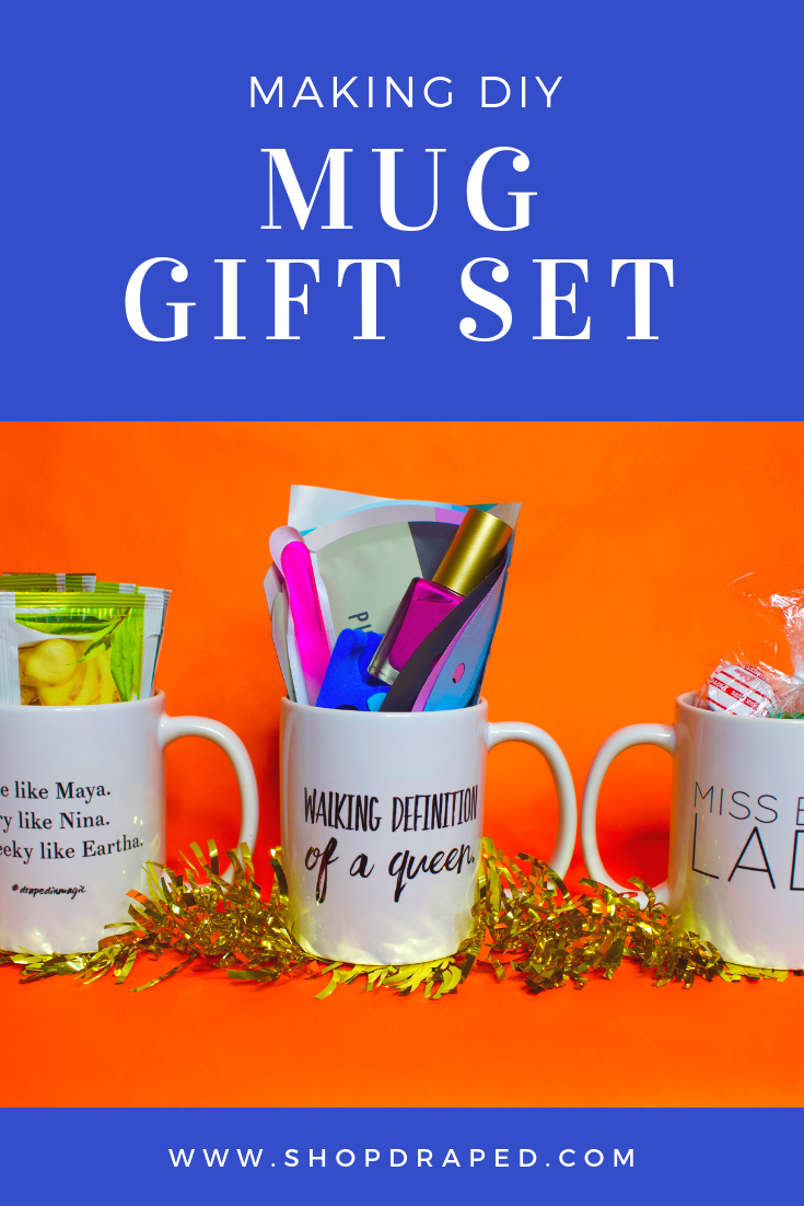 Making DIY Mug Gift Set