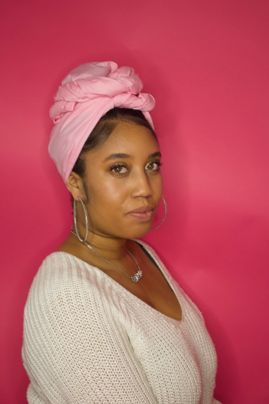 Blush Pink Solid Headwrap