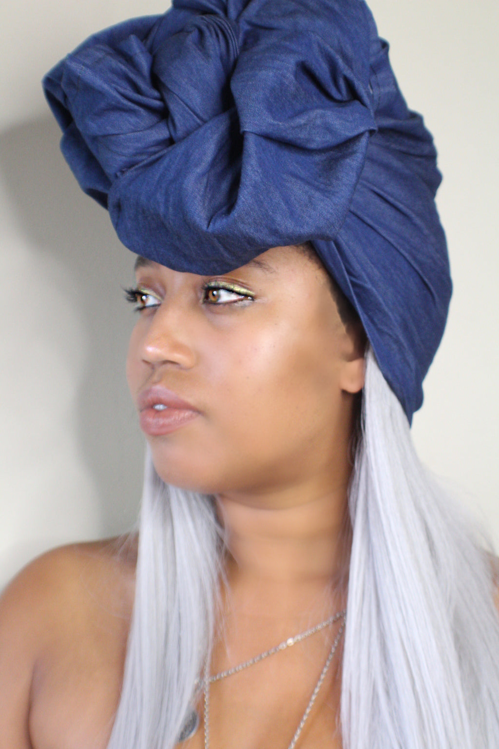 Desert Blues Dark Denim Headwrap
