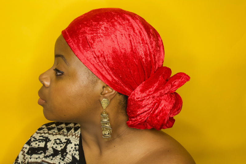 Ruby Velvet Headwrap