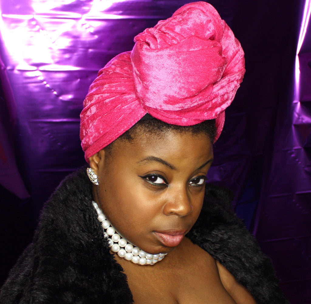 Rose Velvet Headwrap