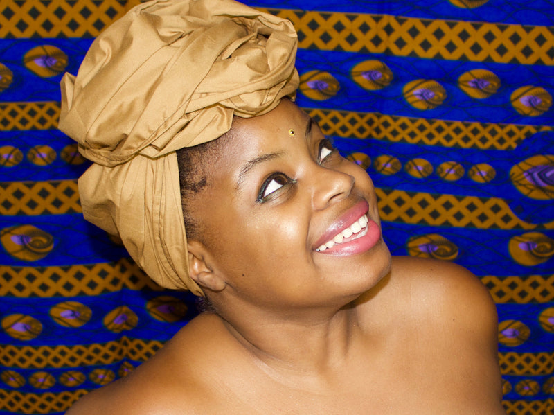 Tan Solid Headwrap - shopdraped