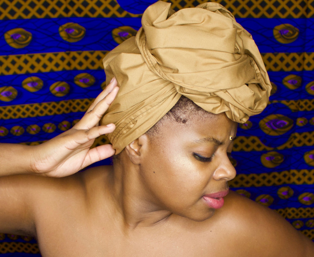 Tan Solid Headwrap