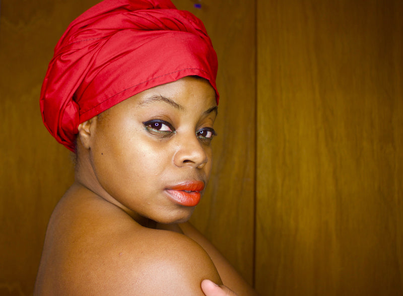 Red Solid Headwrap - shopdraped