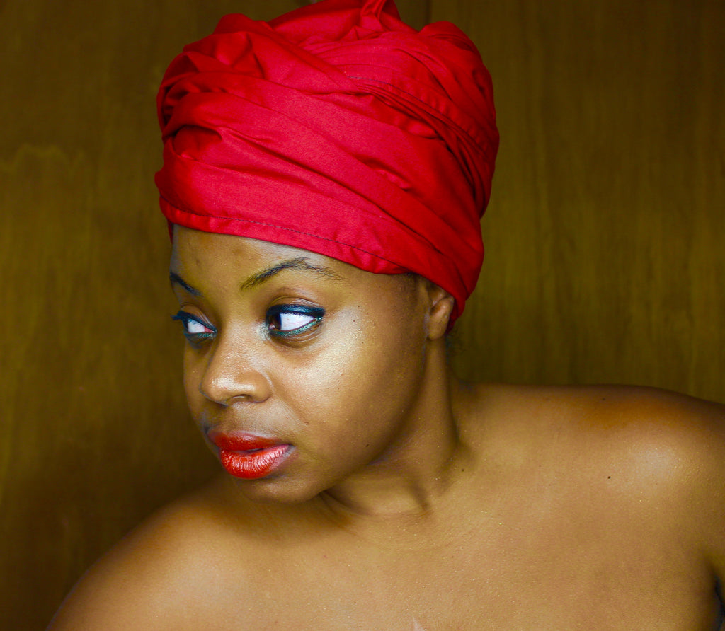 Red Solid Headwrap