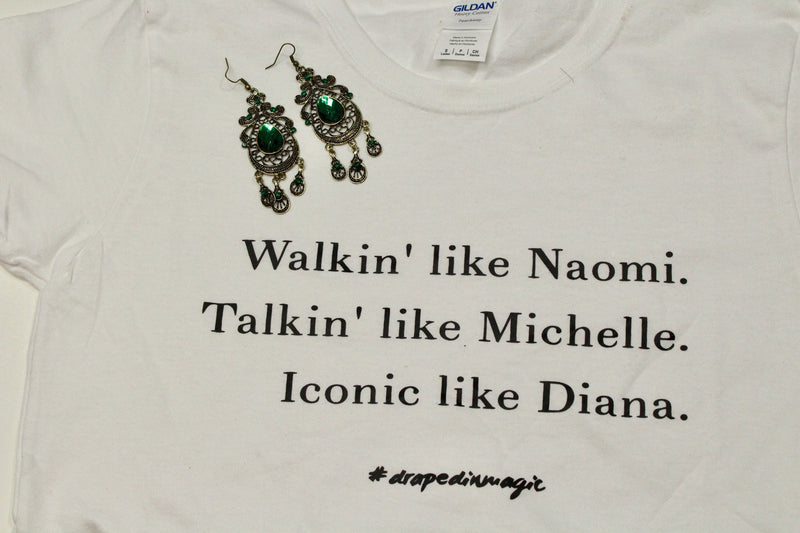 Walkin' like Naomi Tee - shopdraped
